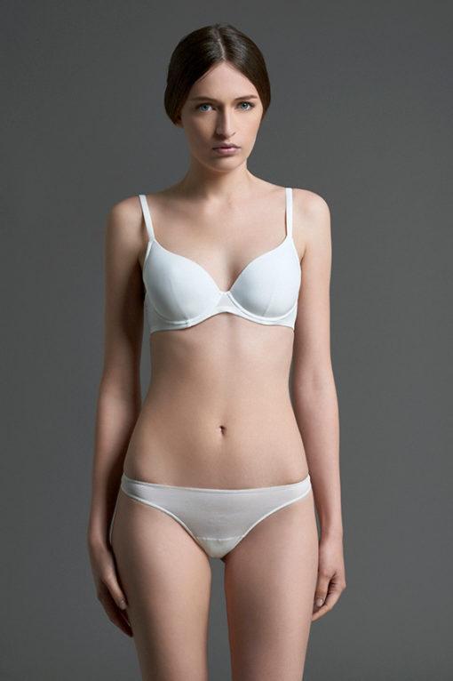 DESIGN COLLECTION - ORO/B - PANNA, reggiseno a balconcino imbottito, paladini lingerie, womens underwear