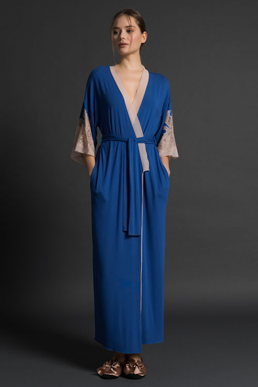 PALADINI COUTURE NIGHTWEAR SS18 - FLAVIA/L - BLUE/PHARD