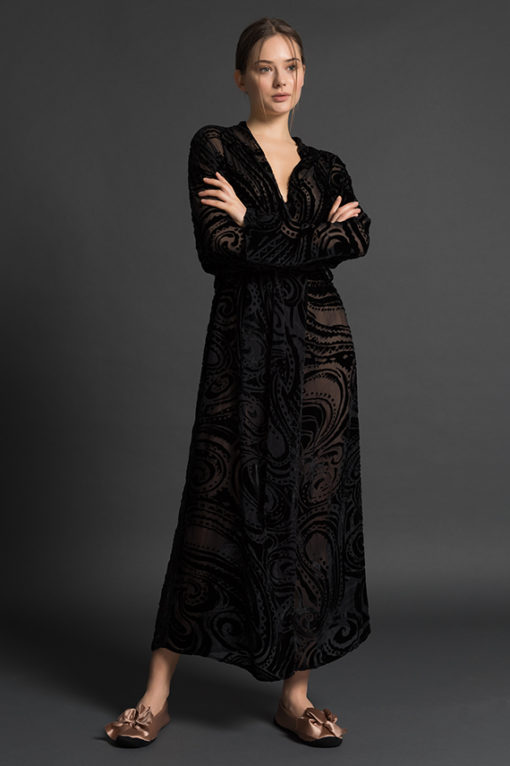 PALADINI COUTURE NIGHTWEAR SS18 - QUEEN/L - NERO