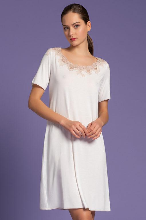 Camicia da Notte Corta, paladin lingerie, intimo di lusso, lingeria, shop online, nightgown, women's nightwear