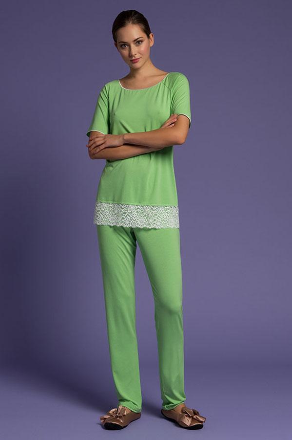 Pajamas With Long Trousures, intimo notte, pigiama da donna, intimo femminile di lusso, lingerie di lusso, intimo shop online, paladini lingerie, lingeria