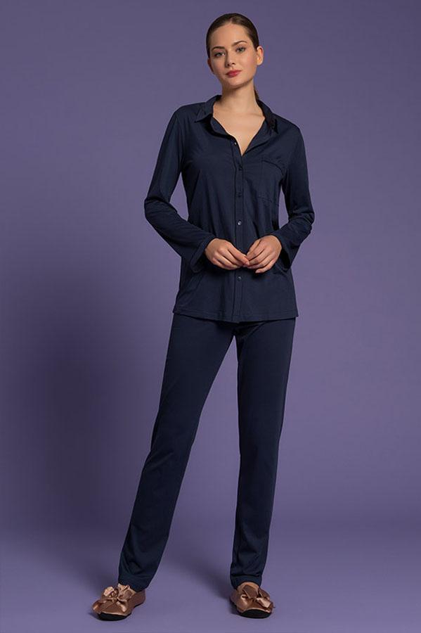 pigiama pantalone lungo da donna, intimo di lusso, paladini lingerie, lingeria, Pajamas With Long Trousers