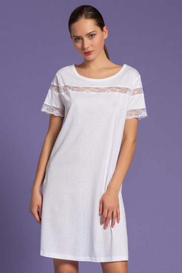 camicia da notte donna, intimo femminile di lusso, Short Nightgown
