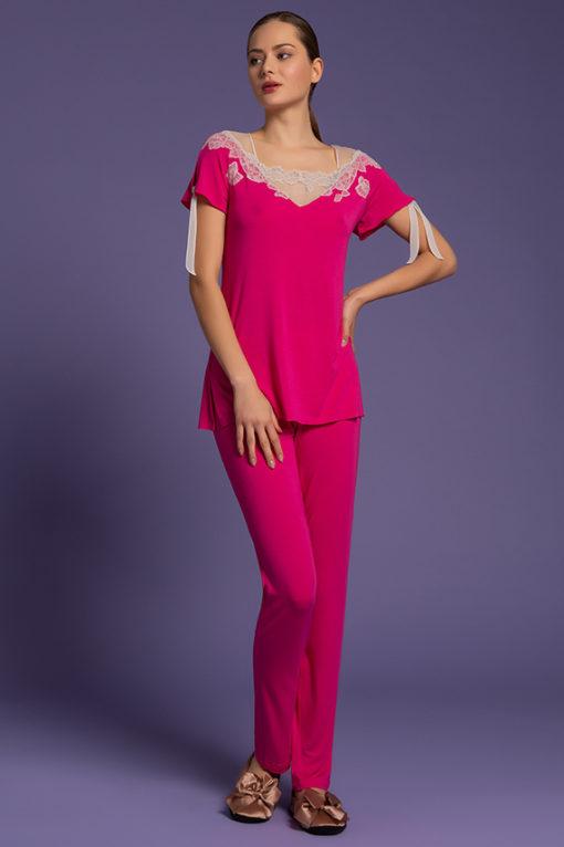 pigiama pantalone lungo, lingeria, paladini lingerie,abbigliamento notte femminile, camicie da notte lunghe, intimo notte,
