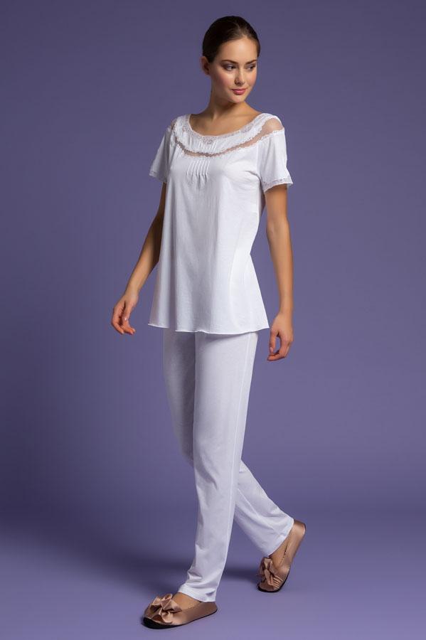Pajamas With Long Trousers, pigiama pantalone, intimo da notte, intimo femminile di lusso, paladini lingerie