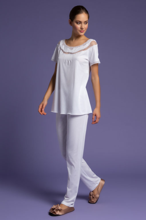 pigiama pantalone, intimo da notte, intimo femminile di lusso, paladini lingerie